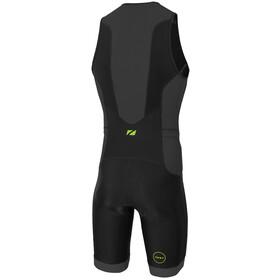 Zone3 Aquaflo Plus Triatlondragt Herrer, black/grey/neon green